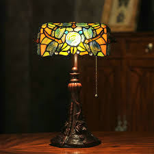 Us 1962 Classic Handmade Inlay Resin Tiffany Table Lamp E27 Colorful Glass Shade Desk Lights Bedside Office Light Art Craft Gift 14h In Desk Lamps