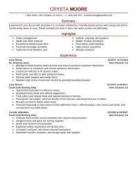 Restaurant Server Resume Sample From Waitress Resume Skills List