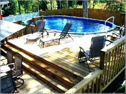 wooden pool deck kits above ground pool deck kits for resin vinyl swimming pictures decking