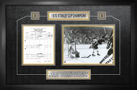 Bobby Orr - Framed Scoresheet Collage Boston Bruins 1970 Stanley Cup ...