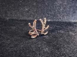 Gold Ring Design Book Pdf Tutorial Reindeer Adjustable Ring Pdf Pattern Book Wire Wrap
