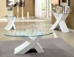 contemporary coffee table sets. Round Glass White Coffee And End Table Sets Interior Decoration Wonderful Handmade High Quality Cool Design Contemporary N