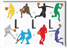 Sports Light Switch Plates Amazon Com Basketball Light Switch Plate And Outlet Covers