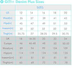 Us Plus Size Chart Gitiwholesale