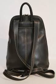 wilsons leather pelle studio black leather backpack handbag purse
