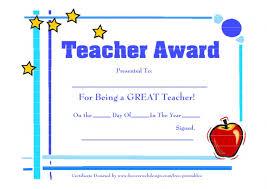 5 Best Of Printable Teacher Appreciation Certificates For Teachers