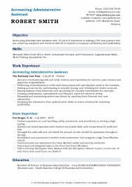 Office Assistant Duties On Resume Accounting Administrative Assistant Resume Samples Qwikresume