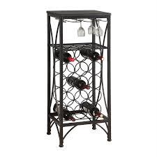Monarch Specialties 15-Bottle Black Freestanding Floor Wine Rack