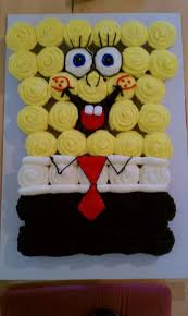 Spongebob Squarepants Cupcake Cake My Granddaughter Would Love