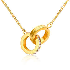 china rome necklace and two circle ring