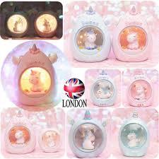 Girls Unicorn Night Light Action Figure Resin Desk Star Lamp Toys