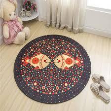 cartoon printed floor mat childs room rug soft round carpets for living room anti slip
