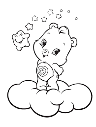 Small Picture Care Bears Posing Above The Clouds Care Bears Coloring Pages