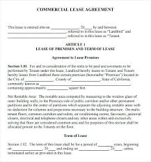 Free Commercial Rental Lease Agreement Property Form Forms Pdf – Trufflr