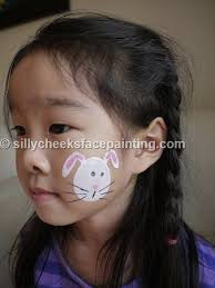 bunny easter egg by silly cheeks face painting