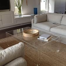 Acrylic Glass Coffee Table Clear Acrylic Coffee Table Diy Furniture Pinterest Clear