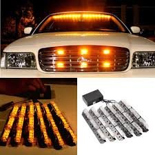 Yellow Light Bars For Trucks Us 44 82 17 Off Car Styling Led Warning Light Yellow Car Truck Strobe Emergency Bars Deck Dash Grill In Car Headlight Bulbs Led From Automobiles