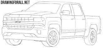 How to Draw a Chevy Silverado | Drawingforall.net
