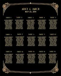 15 Table Seating Chart Great Gatsby Inspired Wedding Seating Chart Sit Back And