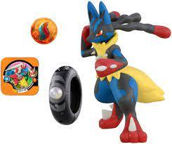 Pokemon XY Mega Evolution Set: Mega Ring & Mega-Lucario Figur 24 cm:  Amazon.de: Spielzeug