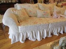 Image of: shabby chic slipcovers sofa