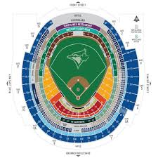 Blue Jays Stadium Map Toronto Blue Jays Seating Map Canada