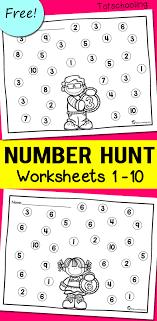Number Recognition Worksheets | Totschooling - Toddler, Preschool ...