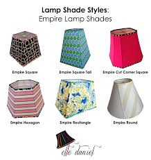 lamp shades custom drum rectangular empire coolie bellelle daniel inside style decorations 0
