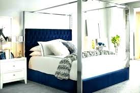 Blue Canopy Bed Curtains Drapes For Black Decorating With Plants ...