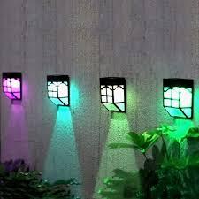 Green Solar Lights Highlifes 1pcs Solar Lights Outdoor Fence Fence Lights