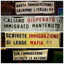 Risultati immagini per manifesti casa pound contro immigrazione