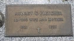 Audrey Griffin Fletcher (1921-1991) - Find A Grave Memorial