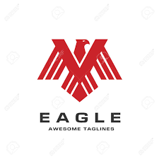 bald eagle template eagle with wings template letter m hawk mascot graphic bald