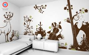 woodland creatures and forest animal wall stickers by e glue design studio