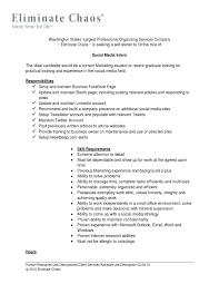 Social Media Intern Resume Resume Ideas Social Work Internship