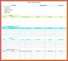 Trip Planner Excel Travel Schedule Template Excel Trip Schedule Template Business