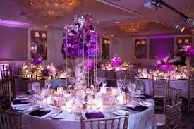 purple decoration ideas purple wedding party decorations with round tables and small wooden also crystal pendant