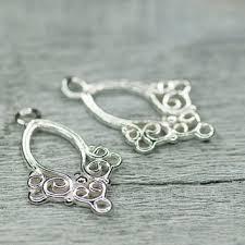 filigree chandelier earrings base sterling silver earring base