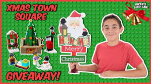 LEGO Christmas Town Square #40263 GIVEAWAY! - YouTube