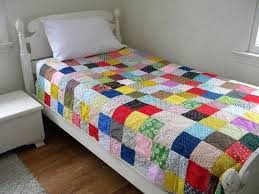 222 best Twin Size Quilts from the Quiltsy Team on Etsy images on ... & Patchwork Quilt XL twin size 67.5 X 99 cotton by secondsanctuary Adamdwight.com