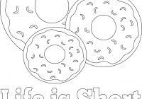 Black Hole Coloring Page With Donut Coloring Pages And Party Sign 10