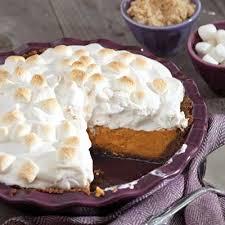 sweet potato pie with marshmallows. Simple Pie Sweet Potato Pie With Marshmallow Meringue For With Marshmallows T