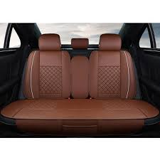 car back seat. Perfect Car Brown And Rexin Car Back Seat Cover On E