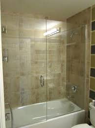 glass shower doors on bathtub must have glass shower tub door for illusion of more space
