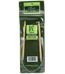 Best for large projects like afghans Clover Takumi Bamboo 36 Inch Circular Knitting Needle Size 9 Crafts Other Sewing