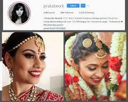 prak col top 10 bridal makeup artists in chennai you should follow on insram weddings