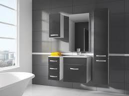 modern bathroom furniture set grey high gloss wall hung units with sink 600mm c
