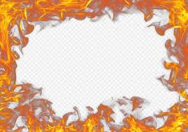 real fire outline frame border effect