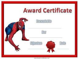 Children Certificate Template Superhero Borders Template Give Your Children Or Students A