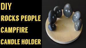 Rock Tea Light Holder Diy Candle Holder River Rocks Tealight Candle Holder Cute Home Decor Ideas